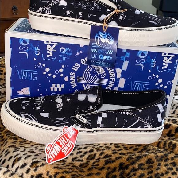 Vans surf shoes removable soles men's 10.5